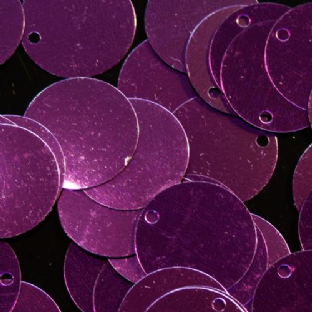FINAL CLEARANCE Bulk Bag Second Quality Extra Large 50mm Metallic Grape Purple Sequins x 500